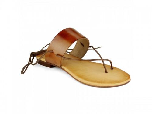 Sandali in vera pelle cuoio