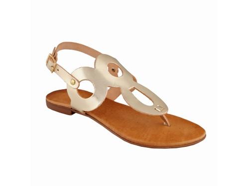 Sandali in vera pelle moda positano