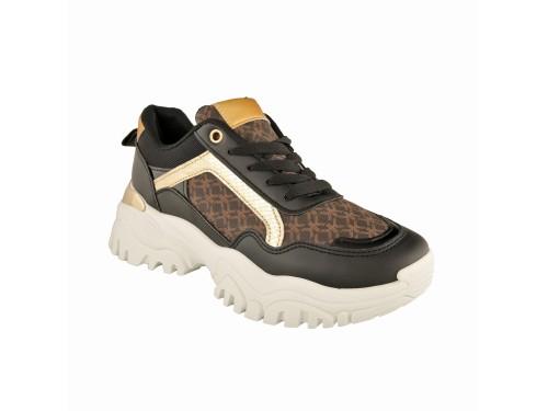 Sneakers con fondo carrarmato